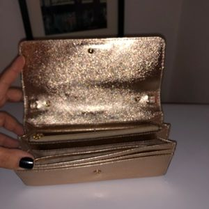Metallic gold wallet. Used